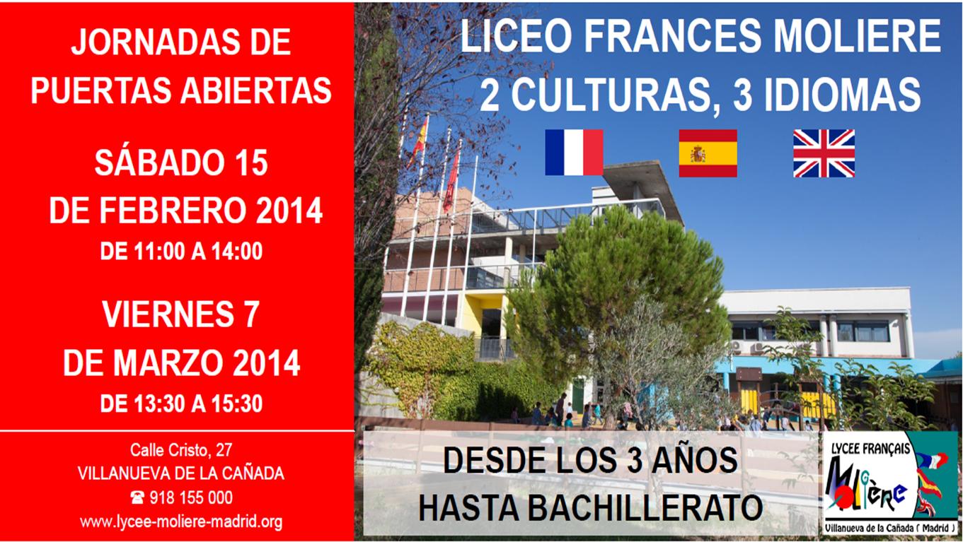 Journee portes ouvertes Lycee Moliere Villanueva de la Cañada